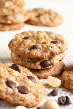 Macadamia Chocolate Chip Cookies – at heart, it's a really good oatmeal chocolate chip cookie, and the macadamia nuts add a beautiful buttery crunch.