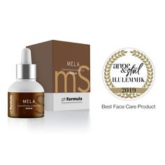 pHformula is honoured to receive the Anne&Stiil Ilulemmik 2019 award for our MELA concentrated corrective serum, for Best Face Care product. Thank you to Anne&Stiil Magazine, Estonia for this prestigious award. Skin Resurfacing, Best Face Products, Face Care, Serum, Innovation, Awards, Soap, Magazine, Bottle