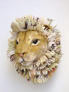 Emily Warren, papier mache animals