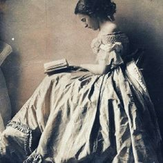 Lady Clementina Hawarden, Reading A Book, 1860's.