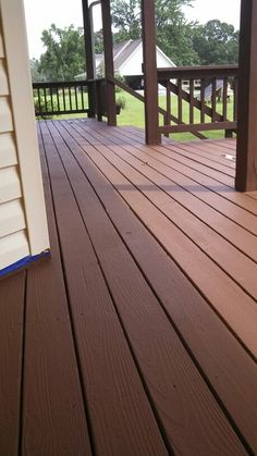 Stained Painted Deck Idea Really Liking The Combination