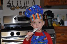 Christmas in July Childs' Chef's hat and Apron by SassyBagsAndRags, $24.00