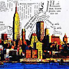 Colagem, poesia e Ilustração (Arte, Hal Wildson)