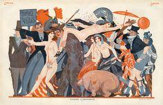 Sacha Zaliouk (1887-1971). Rapins-Bal à Montparnasse. Le Sourire, 1924. [Pinned 10-ii-2015]