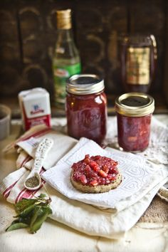 Cherry Jam with Honey, Black Pepper, and Orange Blossom