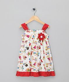 Take a look at this Red Rebecca Dress - Infant, Toddler & Girls on zulily today!