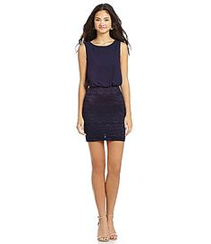 B Darlin Lace Skirt Twofer Dress #Dillards