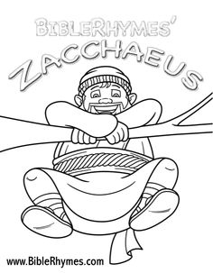 biblerhymes zacchaeus printable coloring pages