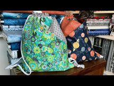 Drawstring Bag with Diagonal Pockets - YouTube
