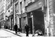 Paris 1941 ~ Jewish stores closed one after the other.