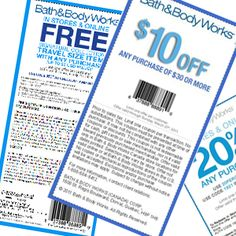 Bath and Body Works Coupons 2012 - Latest August Printable Coupons