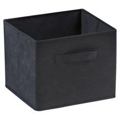 "Set of four folding fabric storage bins in black.  Product: Set of 4 storage basketsConstruction Material: CanvasColor: BlackFeatures: FoldableDimensions: 9"" H x 10.97"" W x 10.06"" D each"