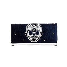 Loungefly Sugar Skull Stripe Wallet
