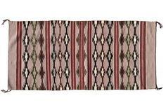 """Finely Woven Navajo Rug, 4'9"""" x 2'1"""" in soft maroons, greens, black, and white on @One Kings Lane"""