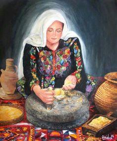 Palestinian Heritage – Güler G Erçel – Join the world of pin Palestine Art, Palestine History, Arabian Art, Cafe Art, Turkish Art, My Art Studio, Egyptian Art, Beautiful Paintings, Art World