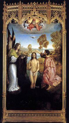 Juan de Flandes, The Baptism of Christ c. 1496-99
