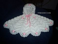 alice brans posted Preemie Ripple Poncho - instructions use an E hook, use a larger hook and this could be made larger to their -crochet ideas and tips- postboard via the Juxtapost bookmarklet. Preemie Crochet, Crochet Baby Poncho, Baby Girl Crochet, Crochet Baby Clothes, Crochet For Kids, Baby Knitting, Knit Crochet, Crochet Ripple, Baby Shawl