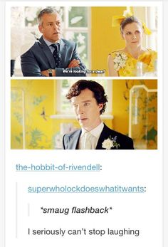 "....bahahahaha!! there were a few moments that you could see it on his face he was like. ""I AM SM…SHERLOCK!"""
