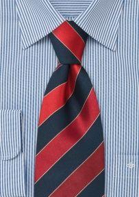 Britische Krawatte Rot Blau