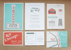 Chicago Wedding Suite: Lacey & Flynn OMG...<3 all the chicago touches