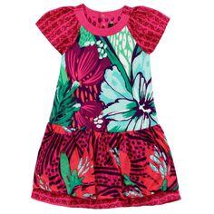 Catimini Puff printed stretch jersey dress Estampado - 61156 | Melijoe.com