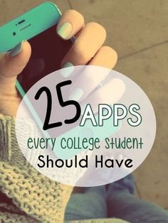 25 Apps Every College Student Should Have *Article contributors: Anu Sekar, Deborah Rankin and Sereen Hamawi College? There's an app for that! Well, lots of apps, actually. Each semester we find new apps that are the. College Life Hacks, College Success, College Tips, Education College, Education Degree, College Ready, College Courses, Study College, Best College Apps