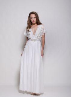 Manches de Bohème en dentelle robe de mariée robe de mariée