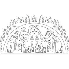 Download Kostenlose Laubsägevorlage Schwibbogen Christmas