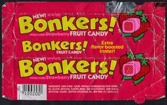 bonkers candy My favorite candy when I was little! School Memories, Best Memories, 90s Childhood, Childhood Memories, Childhood Quotes, Childhood Characters, 1980s Candy, Kickin It Old School, Before I Forget