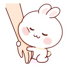 LINE Creators' Stickers - Happy bunny Sunny 2 Example with GIF Animation Cute Love Pictures, Cute Love Gif, Cute Cat Gif, Cute Cartoon Pictures, Cute Love Cartoons, Cute Bear Drawings, Kawaii Drawings, Cute Kawaii Animals, Kawaii Cute