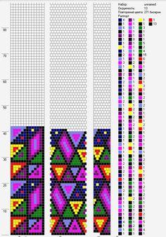 13 around bead crochet rope pattern Bead Crochet Patterns, Bead Crochet Rope, Beaded Jewelry Patterns, Peyote Patterns, Beading Patterns, Beaded Crochet, Beading Tutorials, Bracelet Patterns, Bracelet Crochet