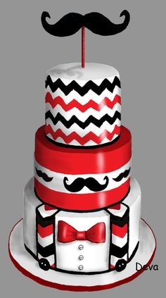 Moustache Cake, Mustache Party, 50th Birthday, Birthday Cakes, Happy Fathers Day Cake, French Cake, Designer Cakes, Caking It Up, Disney Cakes