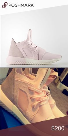 Pink adidas tubular defiant Light pink adidas tubular defiant sneakers. Only worn a couple of times, in good condition. Rare color!!! Sold out almost everywhere, size 5.5 but fits like a 6 Adidas Shoes Athletic Shoes