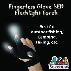 Planning for #camping! Get this fingerless LED Gloves, perfect for #hiking, camping and outdoor adventures!!