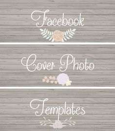 Chic Facebook Cover Photo Templates - Designs By Miss Mandee