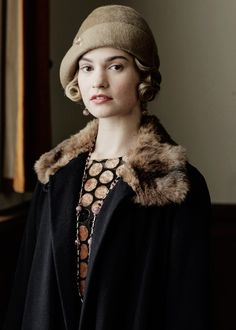 Lily James as Lady Rose in the Downton Abbey sixth series Christmas special.