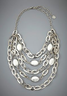 R.J. GRAZIANO Multi Layered Chain and Bead Necklace