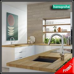 Focus single-hole kitchen faucet by hansgrohe: with dual-jet hand spray and practical swivel spout, ideal for price-conscious cooking fans. Shower Faucet, Hansgrohe, Wood Counter, Cooling Installation, Modern, Kitchen, Kitchen Faucet Design, Kitchen Faucets Pull Down, Modern Lighting