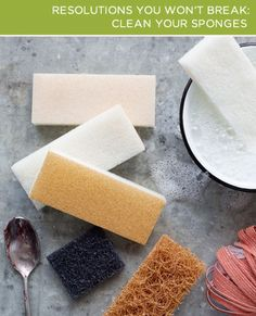 Clean your sponges in your kitchen! It's one of the easiest things you can to do keep your home clean this year! Want more tips? Sign up for a free http://brightnest.com account!
