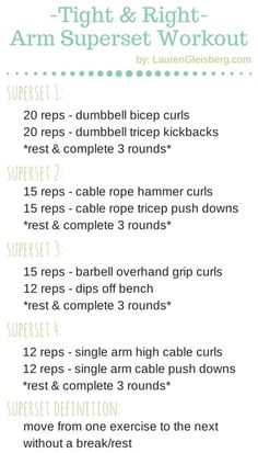 Arms (Biceps & Triceps) Superset Workout - 11/18