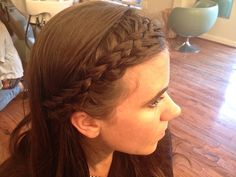 Amazing bang braid by Haley Schultheis