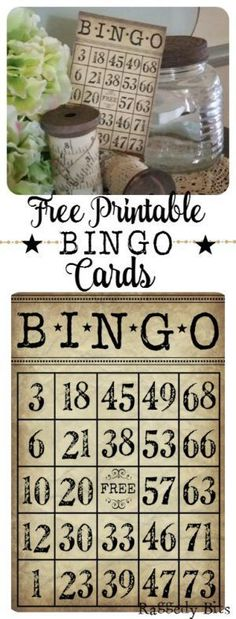 I love decorating with numbers and just love the idea of having bingo cards in my displays around my home. Sharing my free Bingo Card Printable | http://www.raggedy-bits.com