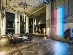 TANK's lofty hospitality venue emphasizes the verticality of its party-pad credentials via Frameweb.com