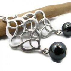 Silver Chandelier Earrings, Hematite Earrings | jewelrybyandrea - Jewelry on ArtFire