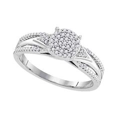 KATARINA Marquise Cut and Round Diamond Fashion Ring in Sterling Silver 1//6 cttw, J-K, SI2-I1