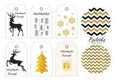 Świąteczne etykiety na prezenty do druku