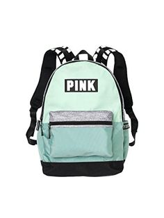 NWT Victoria s Secret PINK Campus Backpack Seafoam Glow Mint Gray Marl RARE  in Clothing 70a8bb888da02