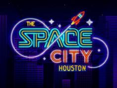 Creative Illustration, Houston, -, Space, and City image ideas & inspiration on Designspiration Retro Font, Retro Logos, Typography Logo, Graphic Design Typography, Typo Design, Word Design, Creative Illustration, Graphic Design Illustration, Houston