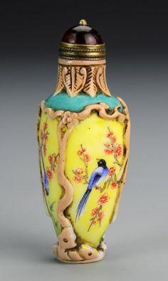 Chinese Peking Glass Snuff Bottle : Lot 222