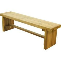 Find Forest Double Wooden Sleeper Bench - at Homebase. Visit your local store for the widest range of garden & outdoor products. Garden Picnic, Garden Benches, Reclaimed Wood Benches, Pressure Treated Timber, Outdoor Seating, Outdoor Decor, Tree Bench, Bench Set, Forest Garden